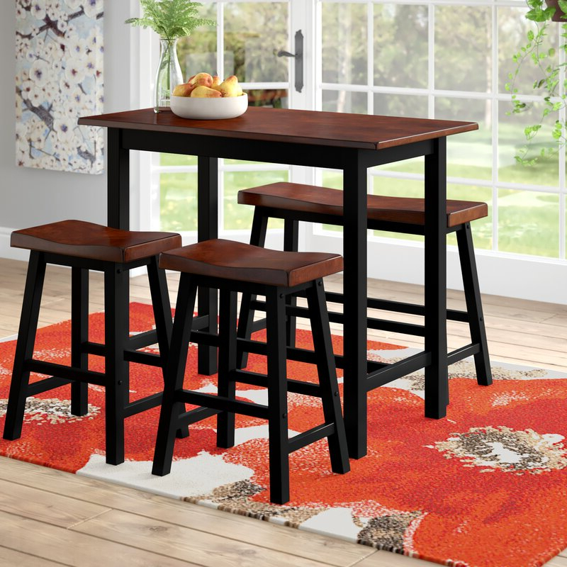 Favorite Winsted 4 Piece Counter Height Dining Sets Throughout Red Barrel Studio Winsted 4 Piece Counter Height Dining Set (Gallery 2 of 20)