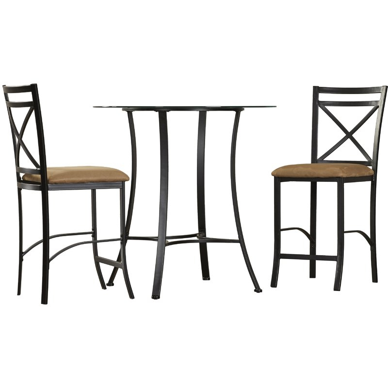 Favorite Winston Porter Saleh 3 Piece Dining Set & Reviews (View 11 of 20)