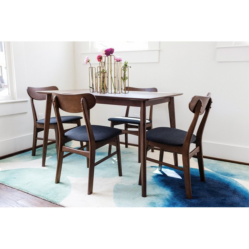 George Oliver Velazquez 5 Piece Breakfast Nook Dining Set & Reviews Pertaining To Trendy 5 Piece Breakfast Nook Dining Sets (View 14 of 20)