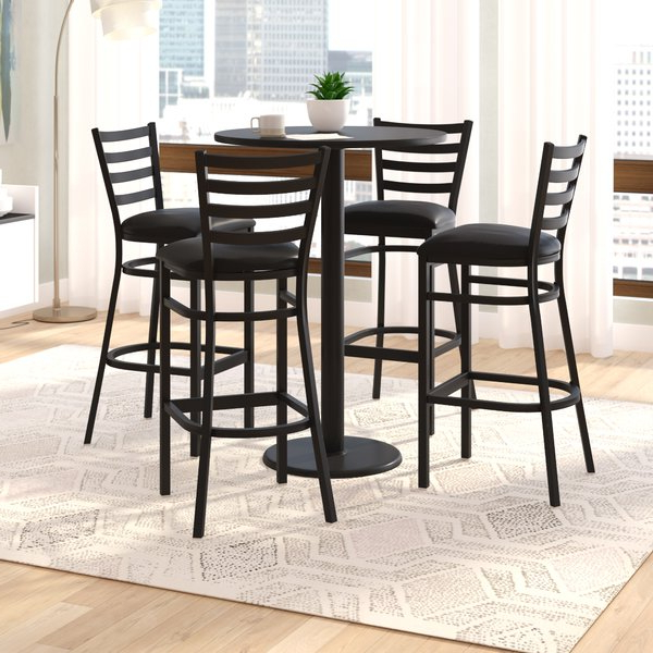 Goodman 5 Piece Solid Wood Dining Sets (Set Of 5) Throughout Widely Used 5 Piece Pub Height Dining Set (View 8 of 20)