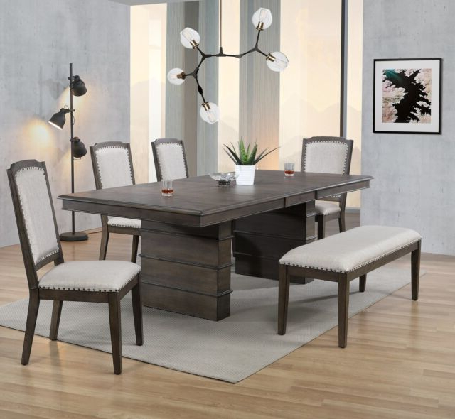 Gracie Oaks Sawyer 6 Piece Extendable Dining Set  (View 10 of 20)