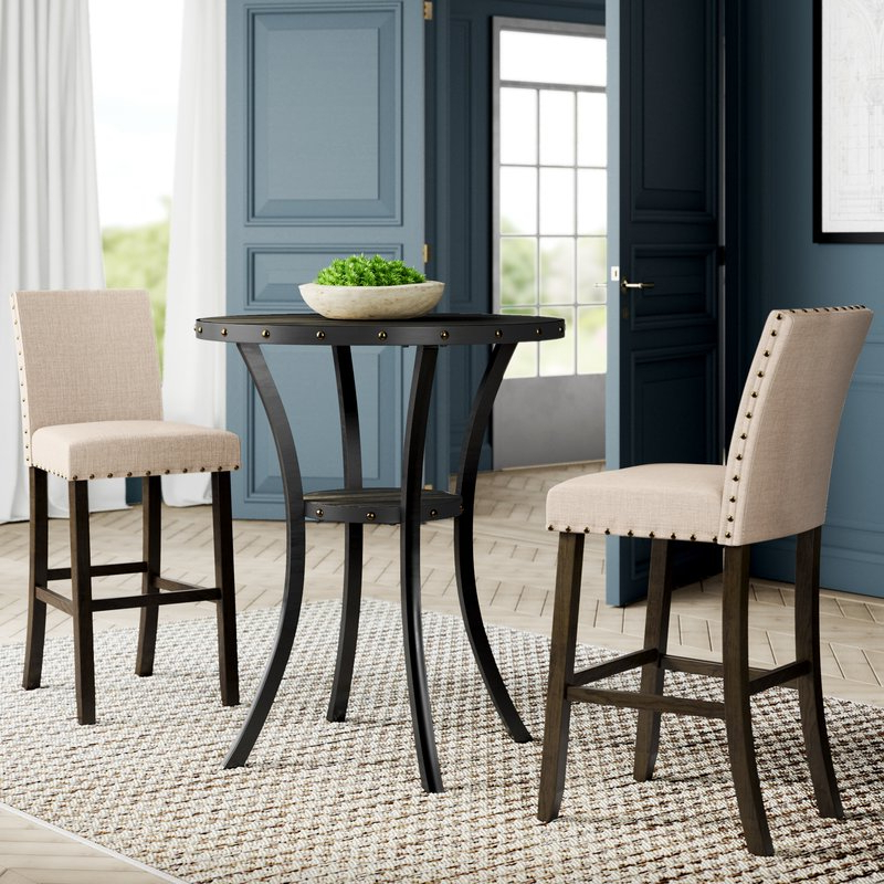 Greyleigh Haysi 3 Piece Pub Table Set & Reviews (View 8 of 20)