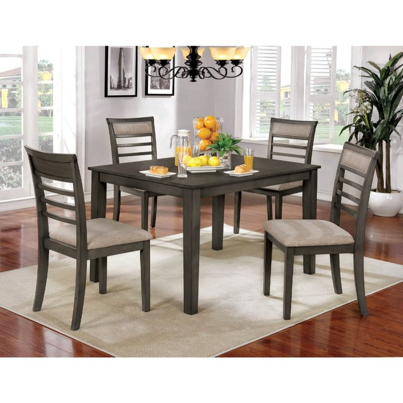 Hanska Wooden 5 Piece Counter Height Dining Table Sets (set Of 5) Inside Current Red Barrel Studio Hanska Wooden 5 Piece Counter Height Dining Table (View 1 of 20)
