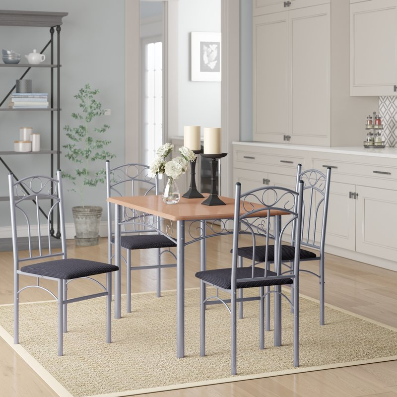 Honoria 3 Piece Dining Sets For 2019 Winston Porter Opalstone 5 Piece Dining Set & Reviews (Gallery 8 of 20)