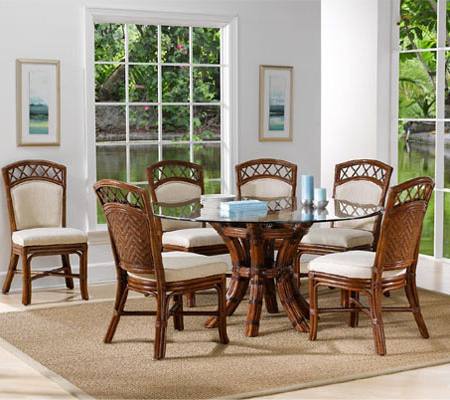 Indoor Rattan And Wicker Dining Collections In Most Recently Released Saintcroix 3 Piece Dining Sets (View 3 of 20)