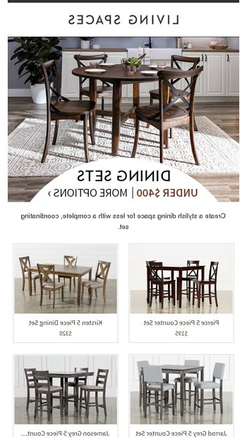 Jarrod 5 Piece Dining Sets Regarding Latest July 4Th Event: Set Off Savings Fireworks! – Living Spaces Email Archive (View 6 of 20)