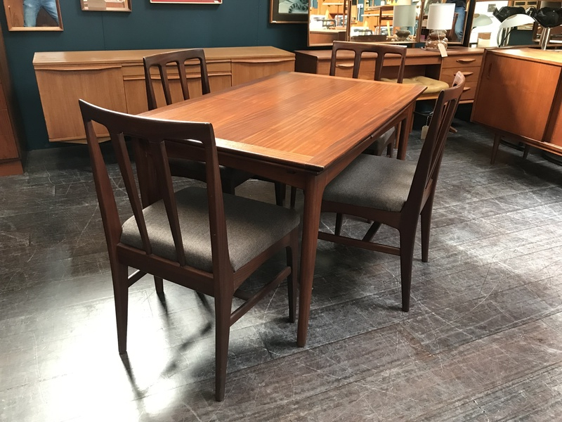 John 4 Piece Dining Sets With Regard To Well Known Extending Mid Century Dining Table & 4 Chairs In Afrormosia Wood (View 17 of 20)
