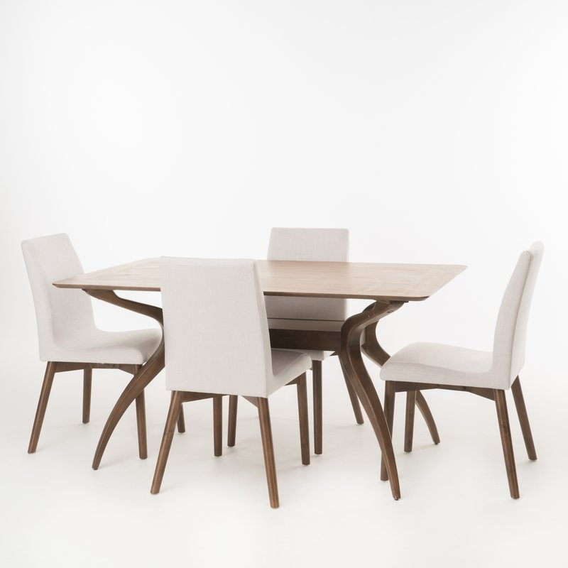 Joss & Main Throughout Liles 5 Piece Breakfast Nook Dining Sets (Gallery 8 of 20)