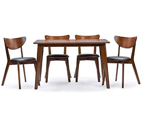 K&a Company Modern Style 5 Piece Dining Showcasing Mid Century Set With Regard To Well Liked Wiggs 5 Piece Dining Sets (Gallery 11 of 20)