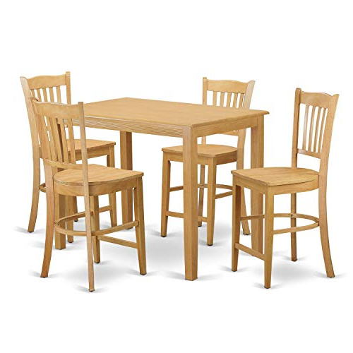 Kaya 3 Piece Dining Sets Intended For Trendy Rectangular Pub Tables: Amazon (View 4 of 20)