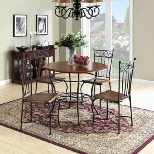 Kieffer 5 Piece Dining Sets For Recent Dining Room Sets Antique Dinette 5 Piece Metal Wood Vintage Kitchen (View 6 of 20)