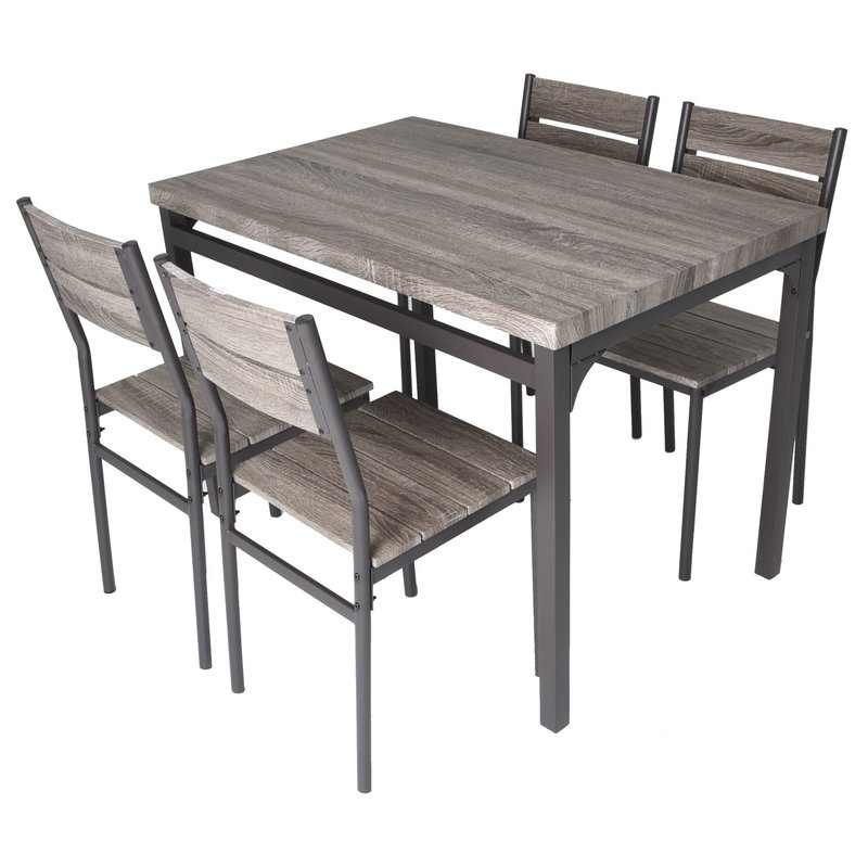 Kieffer 5 Piece Dining Sets Pertaining To Well Liked Gracie Oaks Emmeline 5 Piece Breakfast Nook Dining Set & Reviews (Gallery 6 of 20)