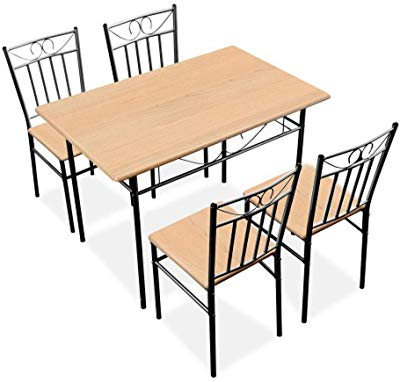 Kieffer 5 Piece Dining Sets Throughout Most Recently Released Amazon – Tms Mason 5 Piece Dining Set Finish: White – Table (View 13 of 20)