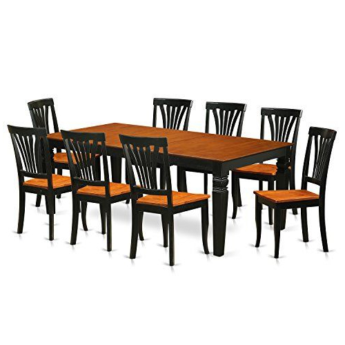 Kieffer 5 Piece Dining Sets With Best And Newest East West Furniture Lgav9Bchw 9 Pc Kitchen Dinette Set With One (View 9 of 20)