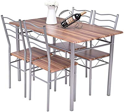 Kieffer 5 Piece Dining Sets With Preferred Amazon – Tms Mason 5 Piece Dining Set Finish: White – Table (View 10 of 20)