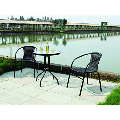 Kinsler 3 Piece Bistro Sets Intended For 2019 Patio Sets 2 Seater: Amazon.co (View 4 of 20)