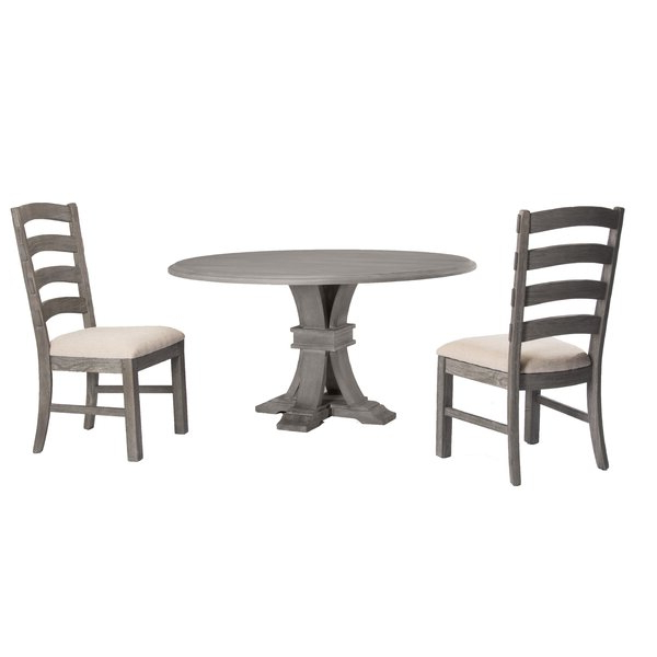Kinsler 3 Piece Bistro Sets Pertaining To Favorite Hillhouse 3 Piece Solid Wood Dining Setred Barrel Studio Savings (View 5 of 20)
