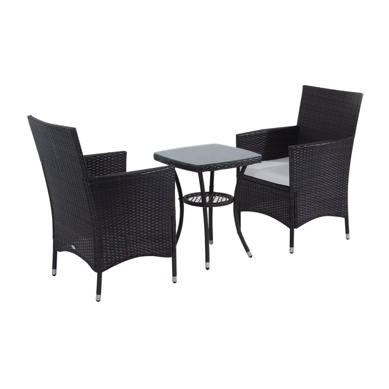 Kinsler 3 Piece Bistro Sets Throughout Most Current Sol 72 Outdoor Kinsler 2 Seater Bistro Set With Cushions & Reviews (View 10 of 20)