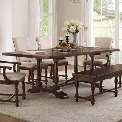 Laconia 7 Pieces Solid Wood Dining Sets (Set Of 7) With Regard To Most Recent Alcott Hill Hawkinson Extendable Dining Table In  (View 7 of 20)