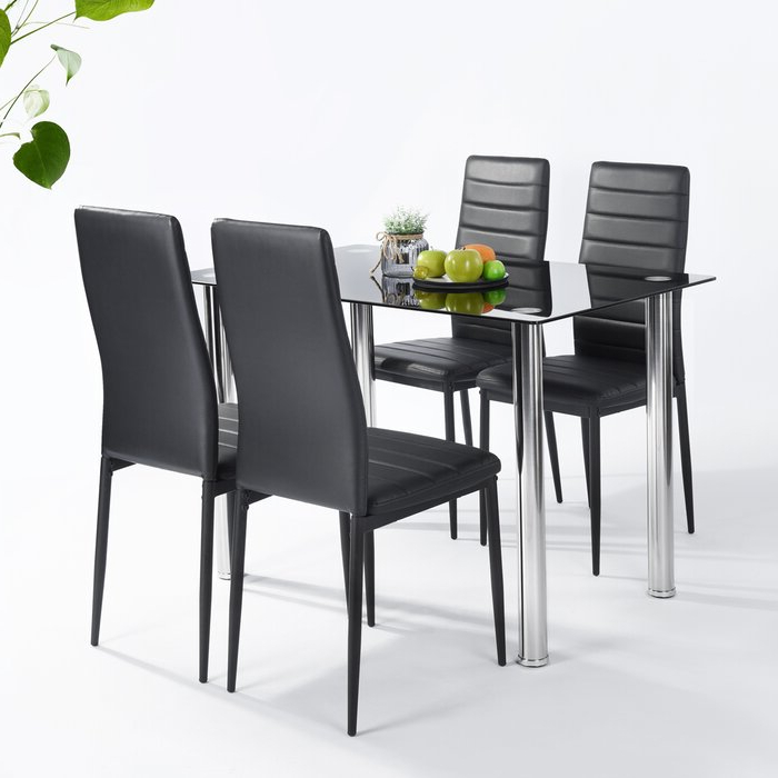 Lamotte 5 Piece Dining Sets Regarding Famous Ebern Designs Lamotte 5 Piece Dining Set (Gallery 1 of 20)