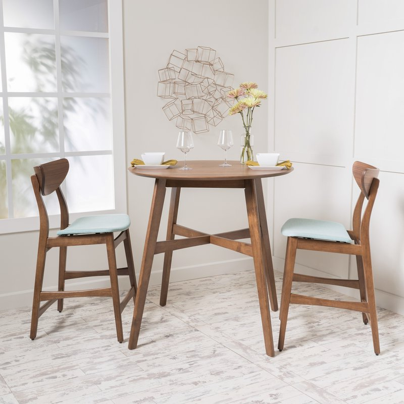 Langley Street Santa Cruz 3 Piece Counter Height Dining Set Pertaining To Well Known Moorehead 3 Piece Counter Height Dining Sets (View 16 of 20)