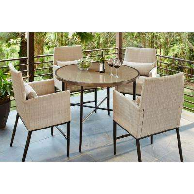 Latest Aria – Patio Furniture – Outdoors – The Home Depot Intended For Aria 5 Piece Dining Sets (Gallery 4 of 20)