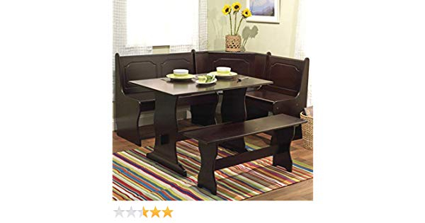 Ligon 3 Piece Breakfast Nook Dining Sets Inside Famous Amazon – Nook Table Breakfast Bench Corner Dining Set 3 Piece (View 15 of 20)