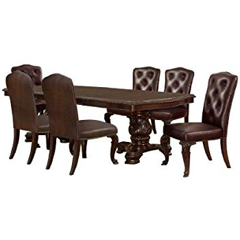 Linette 5 Piece Dining Table Sets Pertaining To Fashionable Amazon – Furniture Of America Evangelyn 7 Piece Dining Set With (View 11 of 20)