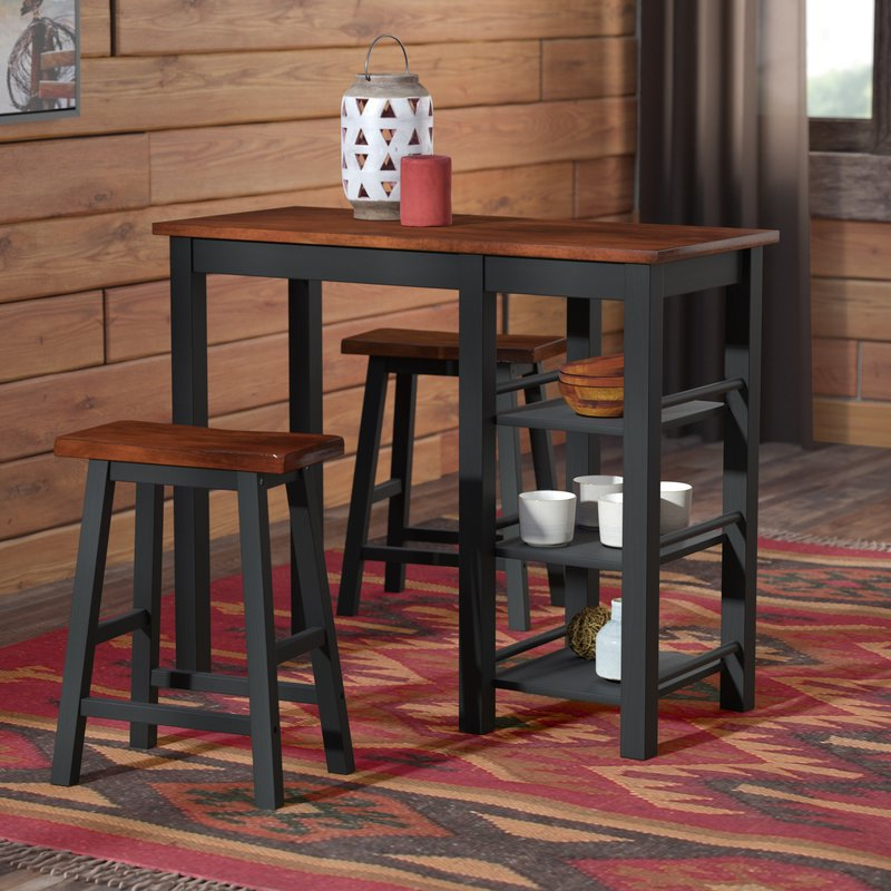 Loon Peak Berrios 3 Piece Counter Height Dining Set & Reviews (Gallery 1 of 20)