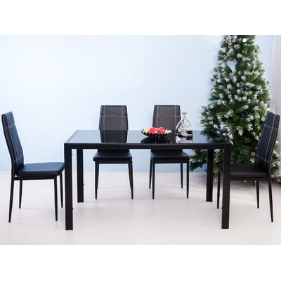 Maynard 5 Piece Dining Sets Regarding Most Up To Date Ebern Designs Maynard 5 Piece Dining Set (View 4 of 20)