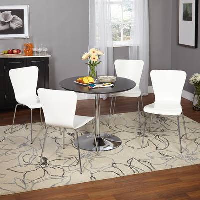 Maynard 5 Piece Dining Sets With 2017 Salerno 3 Piece Dining Set & Reviews (Gallery 11 of 20)
