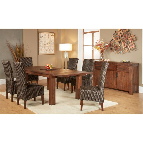 Mitzel 3 Piece Dining Sets Inside Latest Gibson 7 Piece Extendable Solid Wood Dining Setloon Peak Savings (Gallery 15 of 20)