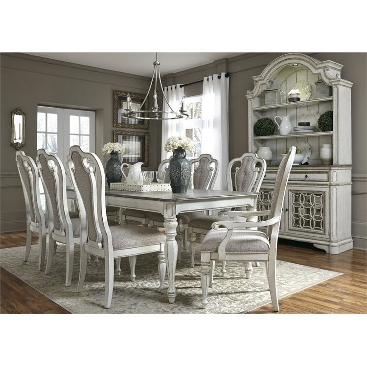 Mitzel 3 Piece Dining Sets With Regard To Recent Antique White 7 Piece Dining Set – Magnolia Manor In  (View 10 of 20)