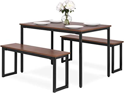 Moorehead 3 Piece Counter Height Dining Sets Pertaining To Best And Newest Amazon – Isla 3 Piece Counter Height Dining Set With Storage (View 13 of 20)