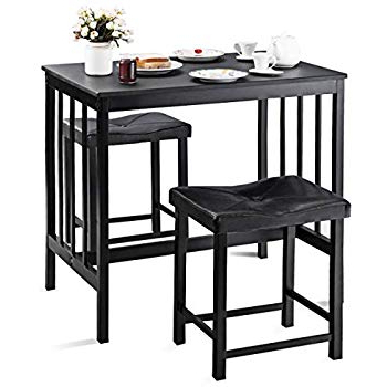 Moorehead 3 Piece Counter Height Dining Sets Throughout Latest Amazon – Roundhill Furniture 3 Piece Counter Height Dining Set (Gallery 12 of 20)