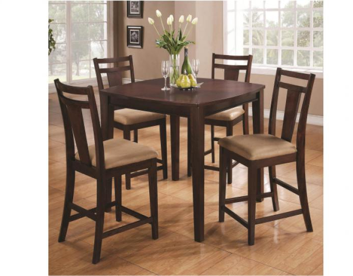 Morrow, Ga 5 Piece Espresso Pub Table Pertaining To Preferred Cargo 5 Piece Dining Sets (Gallery 9 of 20)
