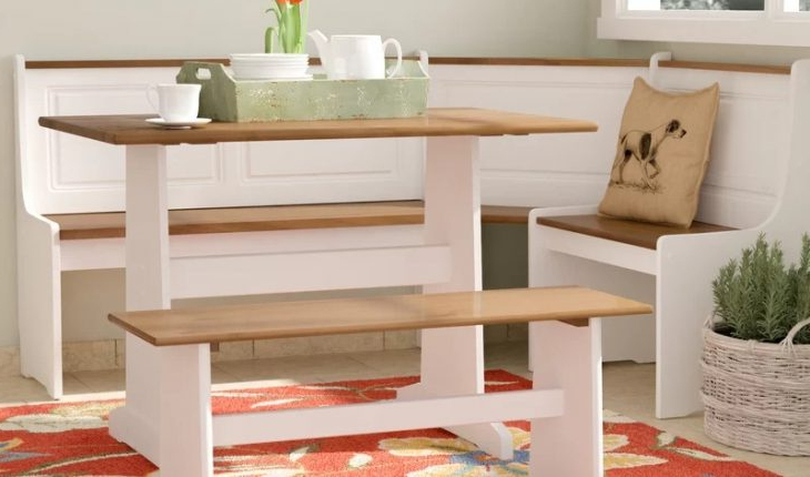 Most Current 3 Piece Breakfast Dining Sets With Regard To Birtie 3 Piece Breakfast Nook Dining Setaugust Grove Review (View 14 of 20)