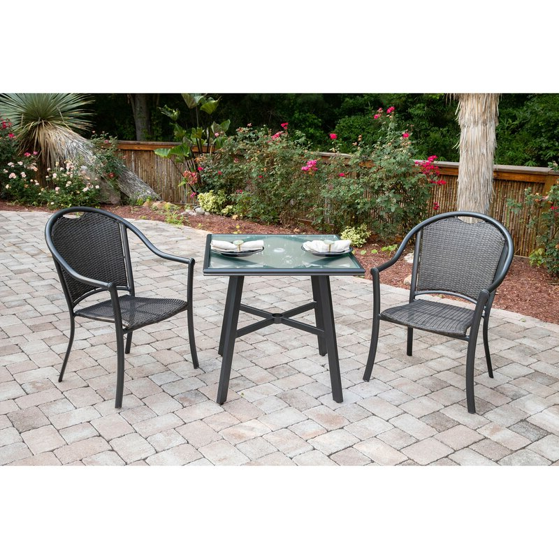 Most Current Bearden 3 Piece Dining Sets In Charlton Home Bearden 3 Piece Commercial Grade Patio Set With 2 (Gallery 3 of 20)