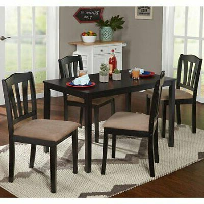 Most Current Dining Set With Table 4 Chairs Stable Kitchen Furniture Diy 5 Pieces Within Tavarez 5 Piece Dining Sets (Gallery 9 of 20)