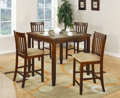 Most Current Hanska Wooden 5 Piece Counter Height Dining Table Sets (Set Of 5) Intended For Red Barrel Studio Shorebilly 5 Piece Counter Height Dining Set (Gallery 17 of 20)