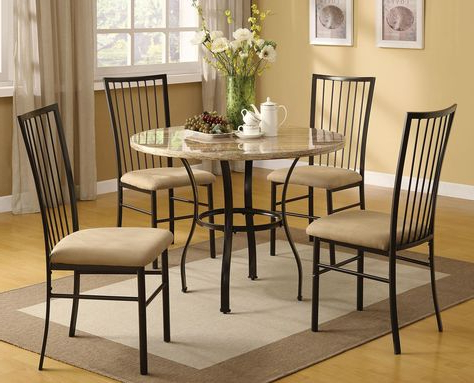 Most Current Hillsdale Lakeview Round Dining Collection With Slate Chair 4264Dtbrdcs With Regard To Tavarez 5 Piece Dining Sets (Gallery 20 of 20)