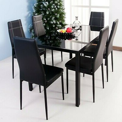 Most Current Merax 5 Piece Dining Table Set High/pub Table Set With 4 Bar Stools Intended For Maynard 5 Piece Dining Sets (Gallery 9 of 20)
