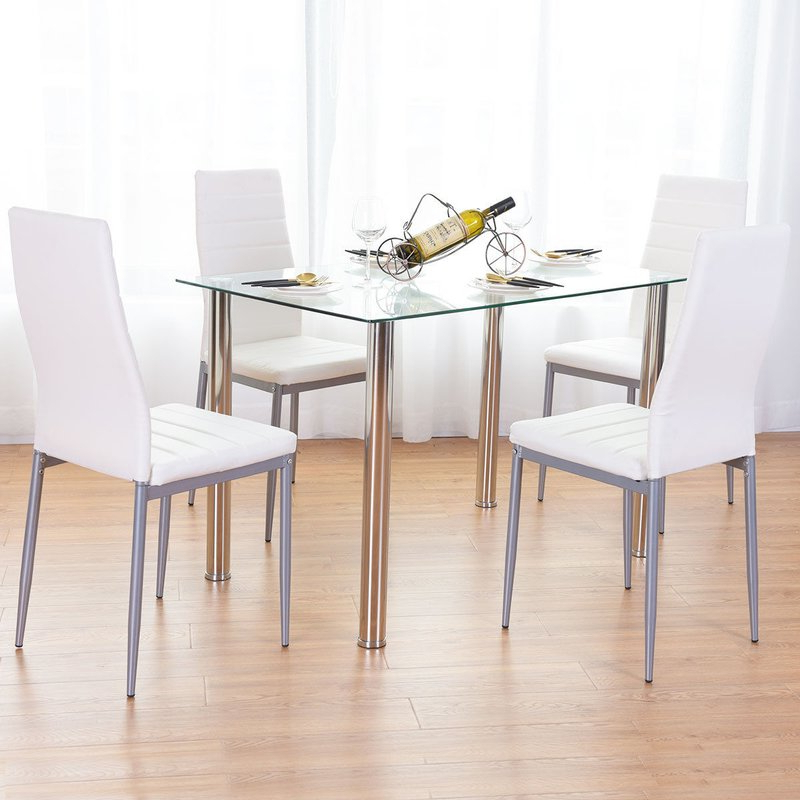 Most Current Orren Ellis Travon 5 Piece Dining Set & Reviews (View 3 of 20)