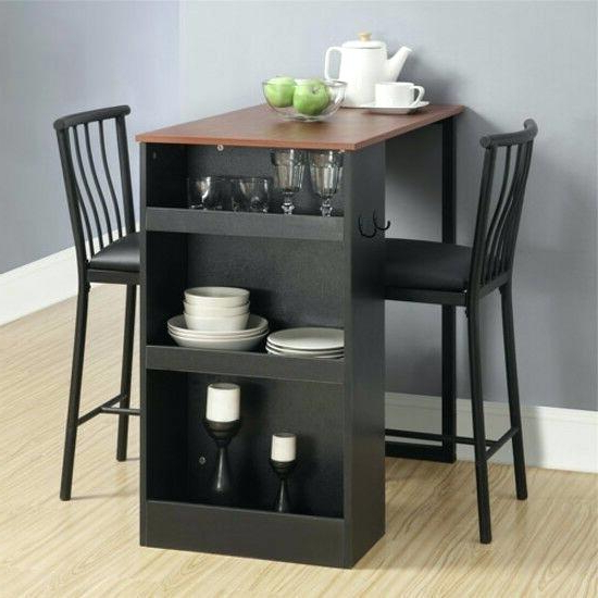 Most Current Small 3 Piece Dining Set Details About Bistro 3 Piece Dining Set Within Debby Small Space 3 Piece Dining Sets (Gallery 5 of 20)
