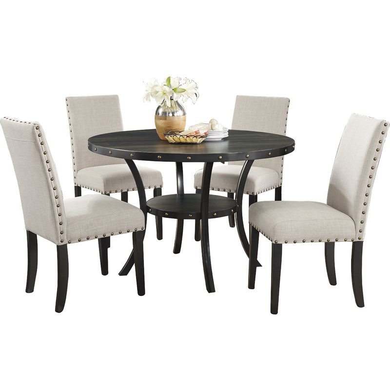 Most Popular 5 Piece Dining Sets Throughout Amy 5 Piece Dining Set & Reviews (Gallery 4 of 20)