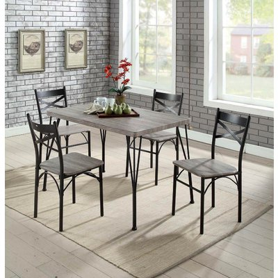 Most Popular Andover Mills Middleport 5 Piece Dining Set Table Top/chair Color Throughout Bearden 3 Piece Dining Sets (View 15 of 20)
