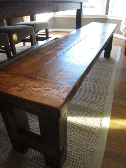 Most Popular Diy Plans To Build The Matching Farmhouse Bench (goes With Farmhouse With Falmer 3 Piece Solid Wood Dining Sets (View 8 of 20)