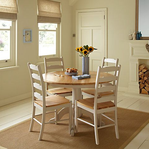 Most Popular John Lewis & Partners Regent Round 4 6 Seater Extending Dining Table With Regard To John 4 Piece Dining Sets (View 8 of 20)