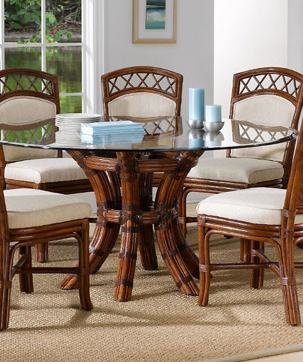 Most Popular Saintcroix 3 Piece Dining Sets For Saint Croix Dining Table With 54 Inch Round Glass From Classic (View 5 of 20)