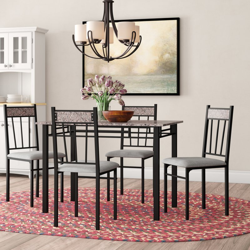 Most Popular Taulbee 5 Piece Dining Sets With Winston Porter Caspar 5 Piece Dining Set & Reviews (Gallery 3 of 20)